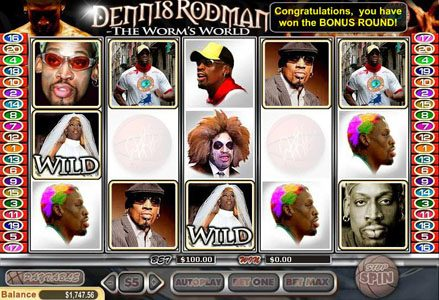 Lincoln featuring the Video Slots Dennis Rodman with a maximum payout of $100,000