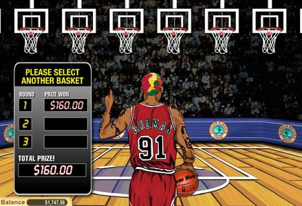 Liberty Slots featuring the Video Slots Dennis Rodman with a maximum payout of $100,000