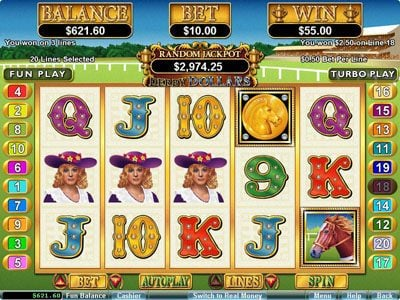 Play slots at Fair Go: Fair Go featuring the Video Slots Derby Dollars with a maximum payout of $200,000