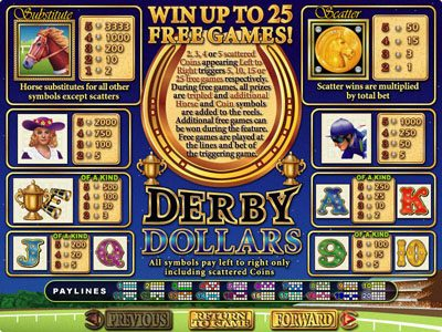 Vegas Casino Online featuring the Video Slots Derby Dollars with a maximum payout of $200,000