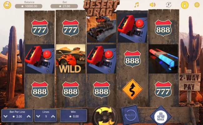 Play slots at CryptoWild: CryptoWild featuring the Video Slots Desert Drag with a maximum payout of $30,000