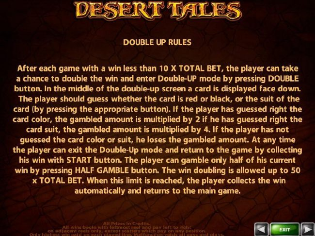 Slots Million featuring the Video Slots Desert Tales with a maximum payout of $500,000
