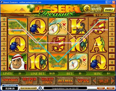 Crown Europe featuring the Video Slots Desert Treasure with a maximum payout of Jackpot