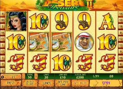 Play slots at Tropez: Tropez featuring the Video Slots Desert Treasure II with a maximum payout of $500,000