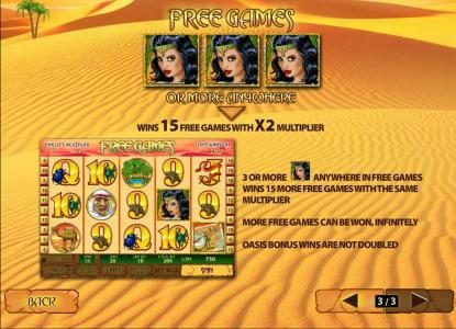 Vernons featuring the Video Slots Desert Treasure II with a maximum payout of $500,000