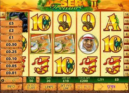 Desert Treasure II :: bet as little as .01 to 5.00 per line