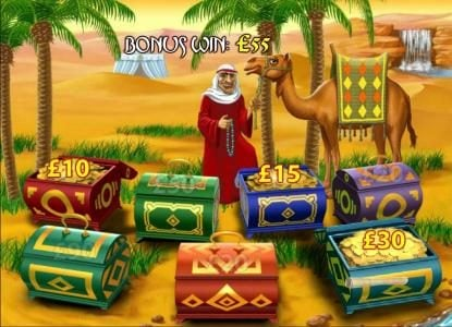 Desert Treasure II :: each chest has a prize but only one has a map