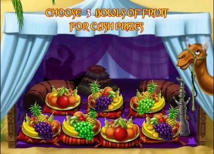 choose 3 bowls of fruit for cash prizes