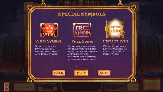wild, free spins and instant win rules