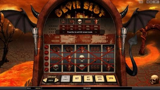 Play slots at Cosmik: Cosmik featuring the Video Slots Devil Slot with a maximum payout of $500