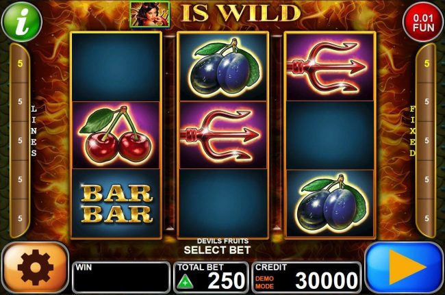 ZigZag777 featuring the Video Slots Devil's Fruits with a maximum payout of $3,750