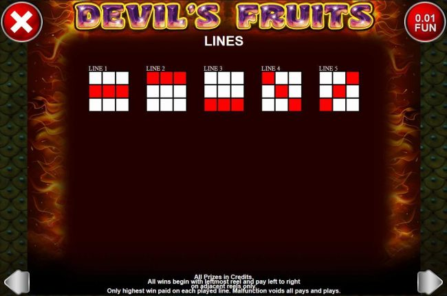 Argo featuring the Video Slots Devil's Fruits with a maximum payout of $3,750
