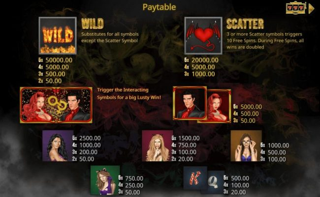 Play slots at Montecryptos: Montecryptos featuring the Video Slots Devil's Heat with a maximum payout of $50,000