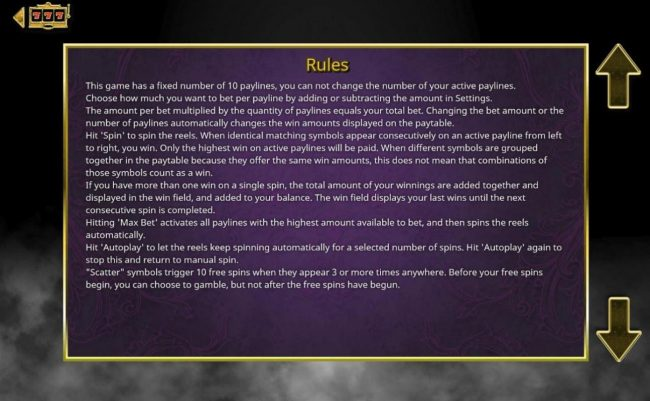 Devil's Heat :: General Game Rules