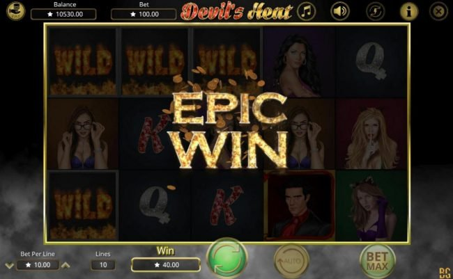 14 Red Casino featuring the Video Slots Devil's Heat with a maximum payout of $50,000