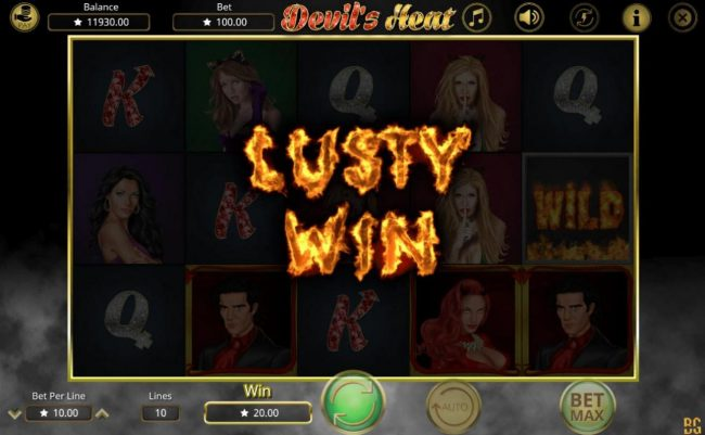Devil's Heat :: Lusty Win feature triggered
