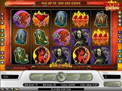 Prime Slots featuring the Video Slots Devil's Delight with a maximum payout of $20,000