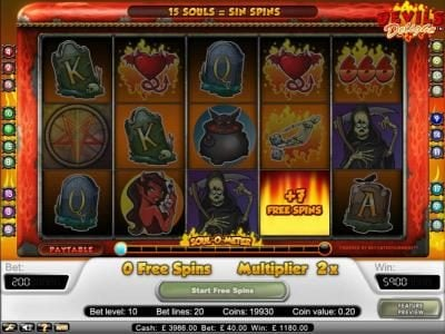 Magik Slots featuring the Video Slots Devil's Delight with a maximum payout of $20,000