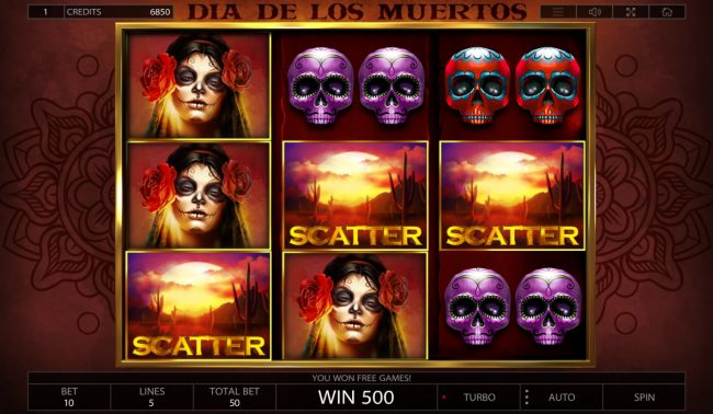 Betchain featuring the Video Slots Dia De Los Muertos with a maximum payout of $25,000