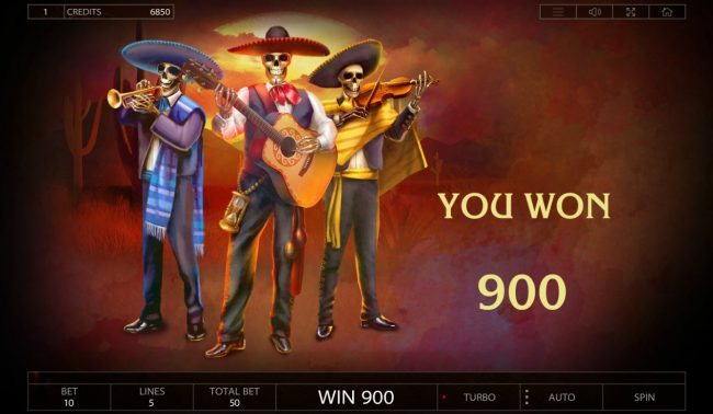 Lightbet featuring the Video Slots Dia De Los Muertos with a maximum payout of $25,000