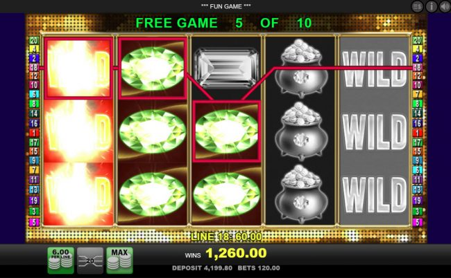 Videoslots featuring the Video Slots Diamond Casino with a maximum payout of $10,000
