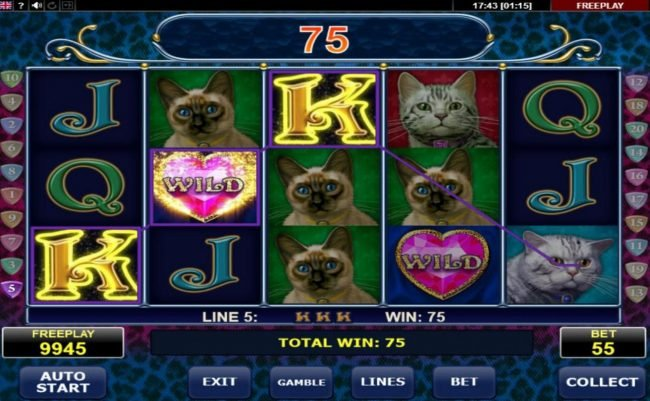 Svedala featuring the Video Slots Diamond Cats with a maximum payout of $10,000