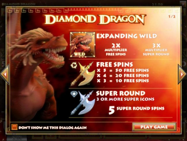 Game features include: Expanding Wilds, Free Spins and Super Round.