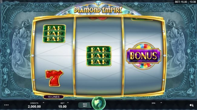 Play slots at Wild Jack: Wild Jack featuring the Video Slots Diamond Empire with a maximum payout of $50,000