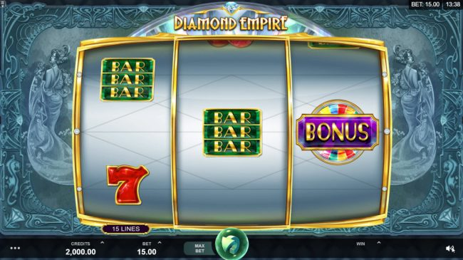 Play slots at Ruby Fortune: Ruby Fortune featuring the Video Slots Diamond Empire with a maximum payout of $50,000