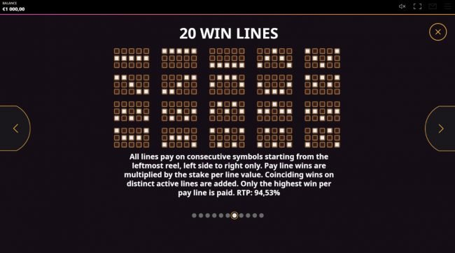 Diamond Rush :: Paylines 1-20