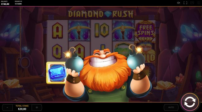 Play slots at Mr Green: Mr Green featuring the Video Slots Diamond Rush with a maximum payout of $20,000