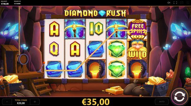 Diamond Rush :: Multiple winning paylines
