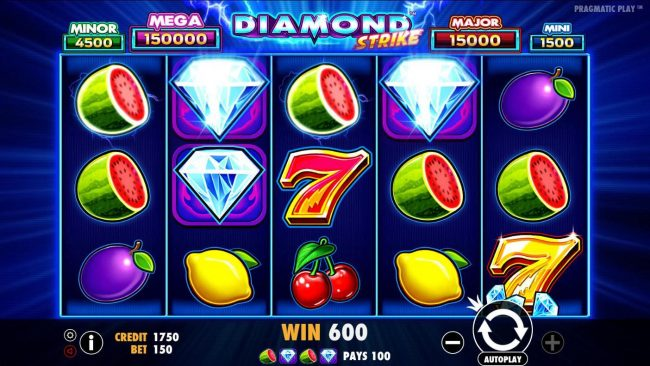 Mayflower featuring the Video Slots Diamond Strike with a maximum payout of $75,000