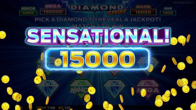 Spin Hill featuring the Video Slots Diamond Strike with a maximum payout of $75,000