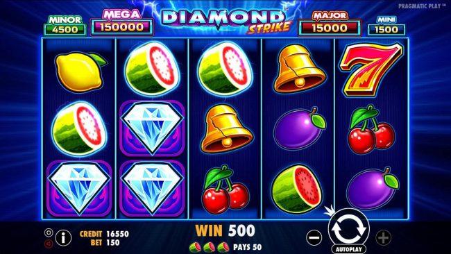 Diamond Strike :: Multiple winning paylines