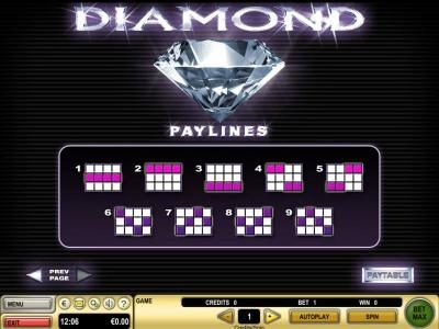 Payline Diagrams 1-9