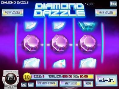 Winbig21 featuring the Video Slots Diamond Dazzle with a maximum payout of $45,000