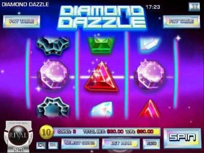 Euro Fortune featuring the Video Slots Diamond Dazzle with a maximum payout of $45,000