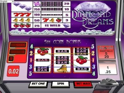 Riviera Play featuring the Video Slots Diamond Dreams with a maximum payout of $1,000