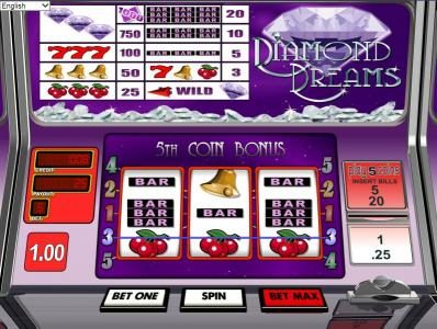 Lotus Asia featuring the Video Slots Diamond Dreams with a maximum payout of $1,000