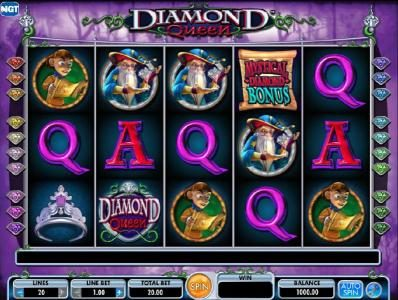 Play slots at Virgin: Virgin featuring the Video Slots Diamond Queen with a maximum payout of $250,000