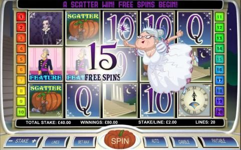 Slots Angel featuring the Video Slots Diamond Slipper with a maximum payout of $20,000