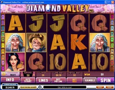 Play slots at Casino Las Vegas: Casino Las Vegas featuring the Video Slots Diamond Valley Pro with a maximum payout of $200,000