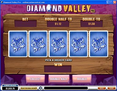 Vernons featuring the Video Slots Diamond Valley Pro with a maximum payout of $200,000