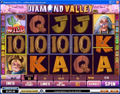 Slots Million featuring the Video Slots Diamond Valley Pro with a maximum payout of $200,000