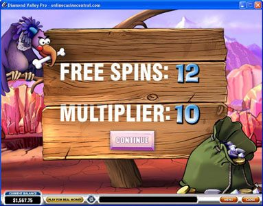 Euro Grand featuring the Video Slots Diamond Valley Pro with a maximum payout of $200,000