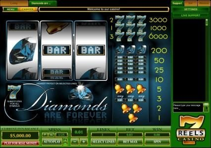 Play slots at Wintingo: Wintingo featuring the Video Slots Diamonds Are Forever with a maximum payout of $30,000