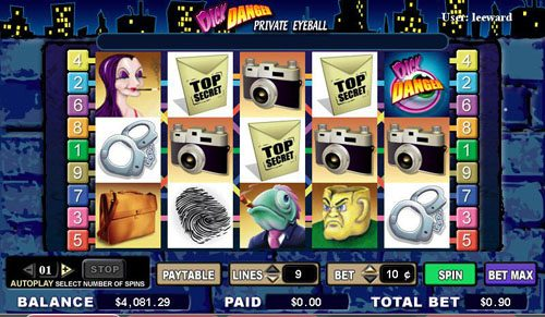Play slots at Slots Cafe: Slots Cafe featuring the video-Slots Dick Danger with a maximum payout of 5,000x