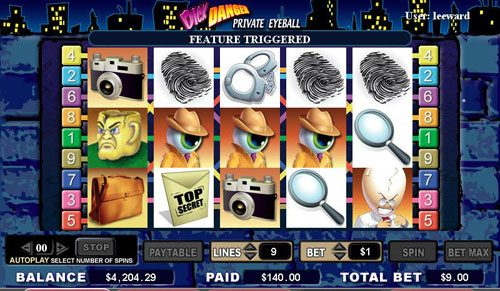 Boaboa featuring the video-Slots Dick Danger with a maximum payout of 5,000x