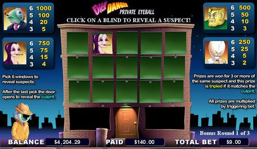 Spin Station featuring the video-Slots Dick Danger with a maximum payout of 5,000x